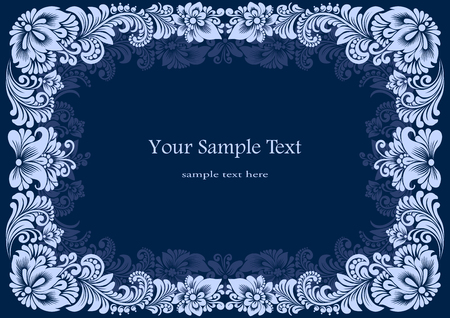 vector square white frames on a blue background Stock Photo