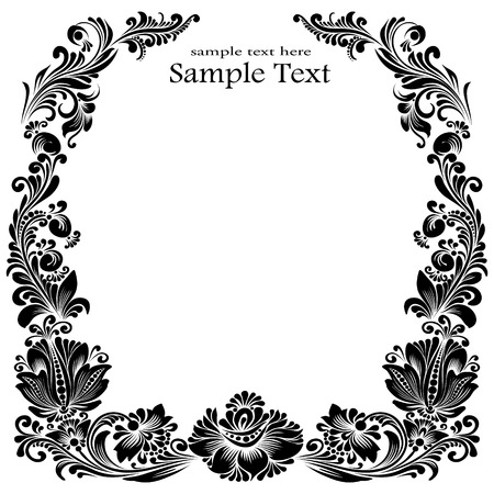 frames with floral ornaments template 矢量图像