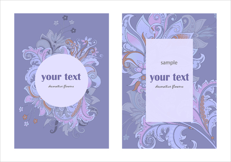 design invitation template with decorative flowers