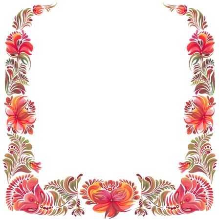 frame with ornament in folk style
