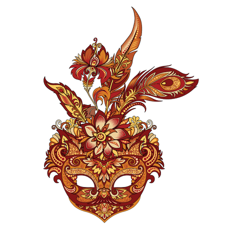 vector carnival golden mask for theater and festivals