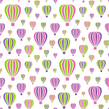 Vector illustration of seamless pattern with air-balloons Vector
