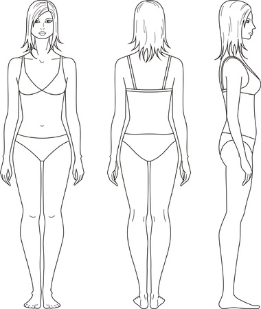 Vector illustration of womans figure