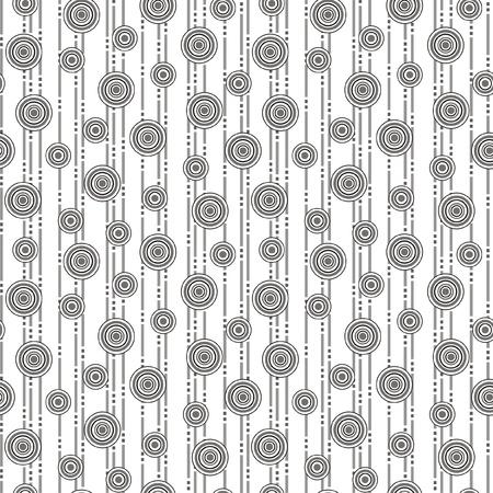 circulos concentricos: Ilustraci?n vectorial de patr?n abstracto sin fisuras con los c?rculos
