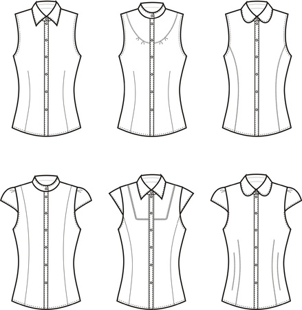 Vector illustration of women s blouses Vector