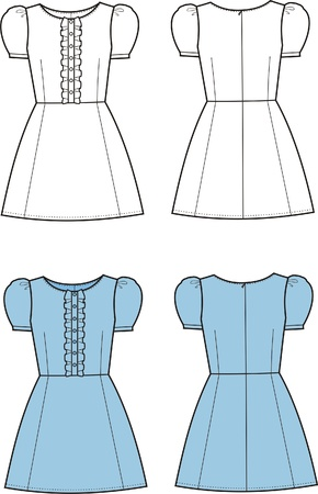 Vector illustration of romantic dress Vector