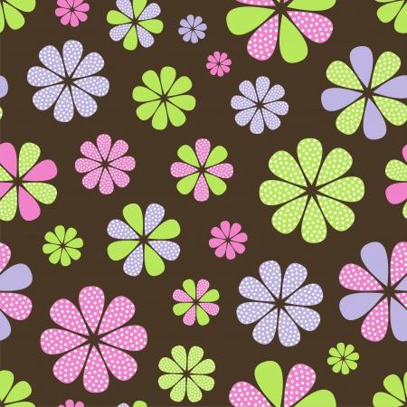 tierno: Ilustraci�n vectorial de patr�n sin fisuras con flores abstractas