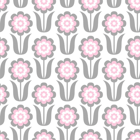 illustration of seamless pattern with abstract flowers Stock Vector - 20074913