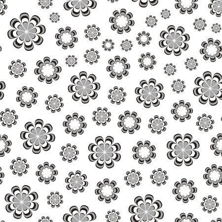 flourishing: illustration of seamless pattern with abstract flowers