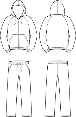 smock: illustration of sport suit  smock and pants