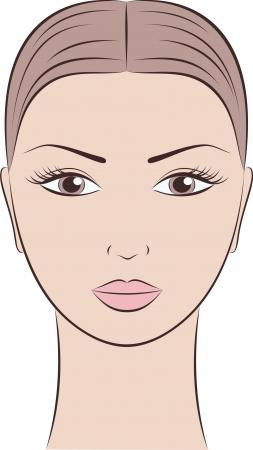 여성의 얼굴의 그림 일러스트