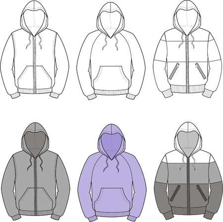 smock: illustration  Set of smocks
