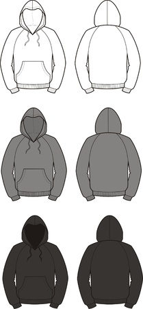 smock: illustration of smocks  Different colors  white, grey, black  Front and back views