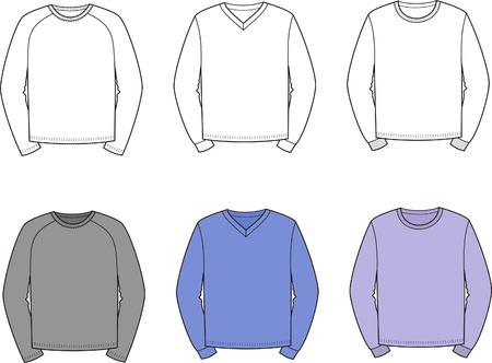 smock: illustration  Set of men s jumpers Illustration