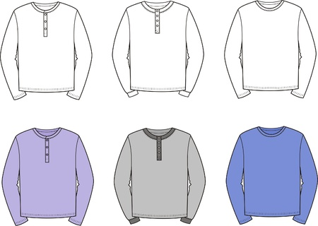 men s: illustration  Set of men s jumpers Illustration