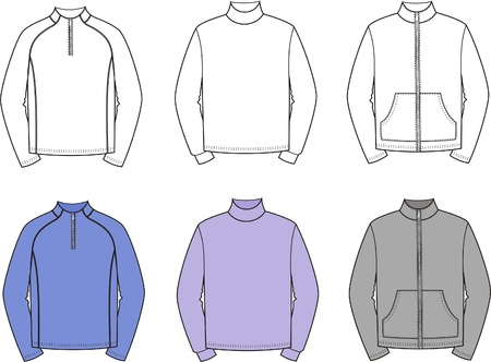 men s: illustration  Set of men s sport jumpers