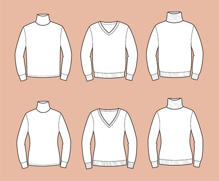 illustration  Set of men s and women s jumpers Vector