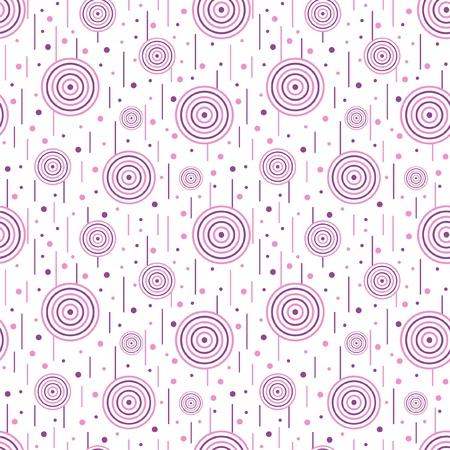 circulos concentricos: Ilustración del patrón sin fisuras con los círculos Vectores