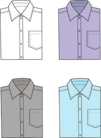 business shirts: ilustraci�n Conjunto de los hombres s camisas de negocios