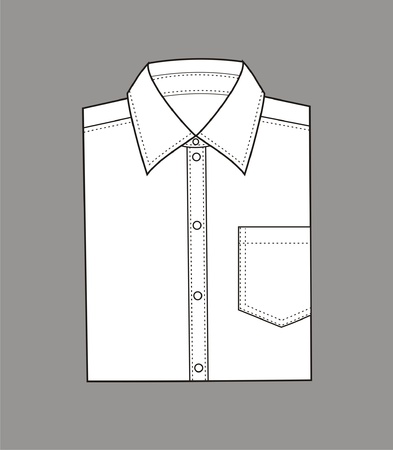 illustration  Set of men s business shirt Stock Vector - 20074947