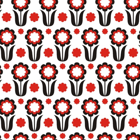 romance image: Vector illustration of seamless pattern with abstract flowers