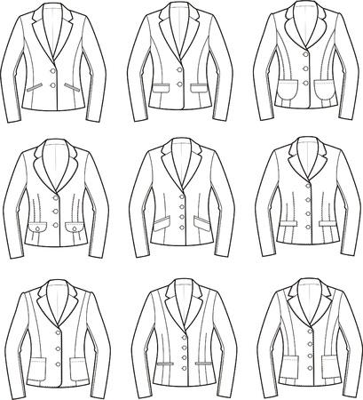 Vector illustratie van vrouwen zakelijke jasjes