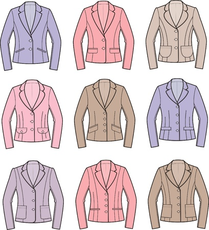 Vector illustration of women s business jackets Stock Vector - 20095465
