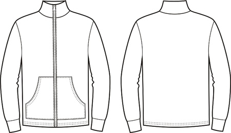 Vector illustration of sport jumper  Front and back views Illustration