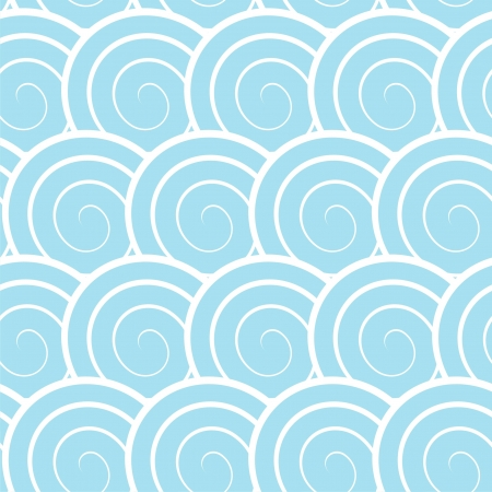 Vector illustration of seamless pattern with spirals Vector
