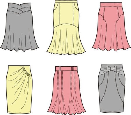 skirts: Vector illustration of skirts