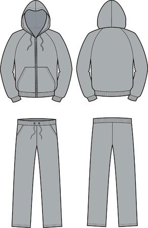 Vector illustratie van de kiel en broek Voor-en achterzijde uitzicht Stock Illustratie