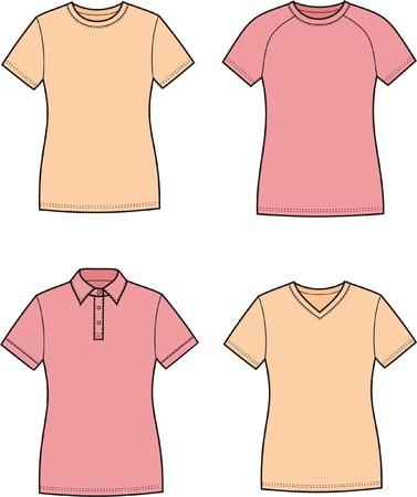 Vector illustration of women s t-shirts Stock Vector - 20096331
