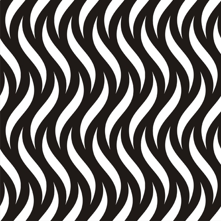 Vector illustration of abstract black-and-white seamless pattern