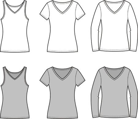 Vector illustration of women s t-shirts Stock Vector - 20146245
