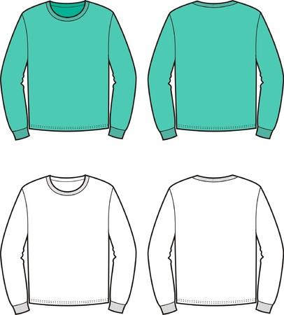 jumper: Vector illustration of men s jumper  Front and back views