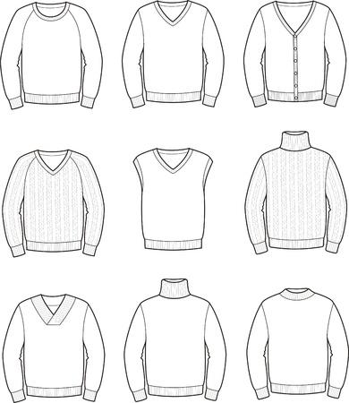 Vector illustratie van de mannen s jumpers Stock Illustratie