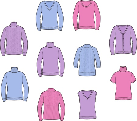 Vector illustration of women s jumpers Vector