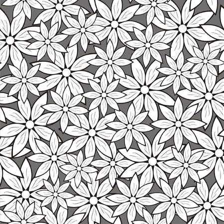 romance image: Vector illustration of seamless pattern with flowers Illustration