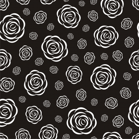 multilayer: Vector illustration of seamless pattern with roses