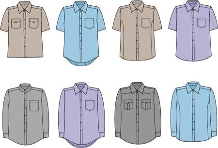 Vector illustration of men s shirts Stock Vector - 20181861