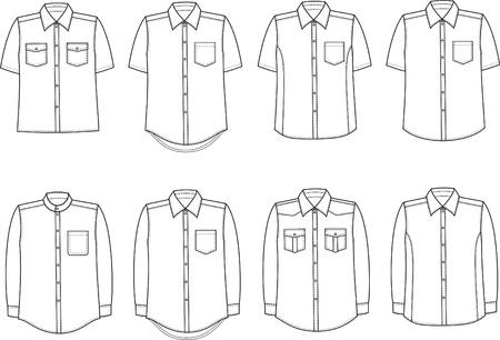 Vector illustration of men s shirts Vettoriali