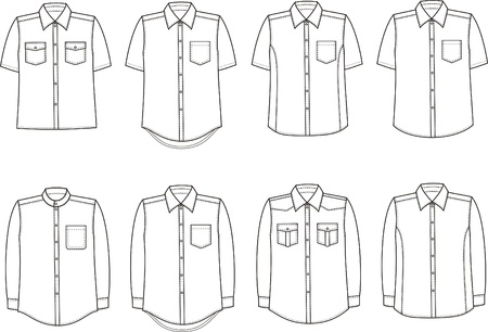 Vector illustration of men s shirts Ilustrace