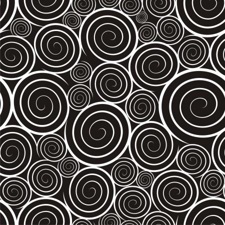 circulos concentricos: Ilustración vectorial de patrón con espirales Vectores