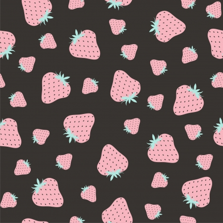 Vector illustration of seamless pattern with strawberries Vector