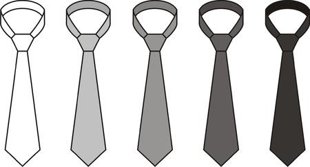 stylish boy: illustration of men s tie  Different colors