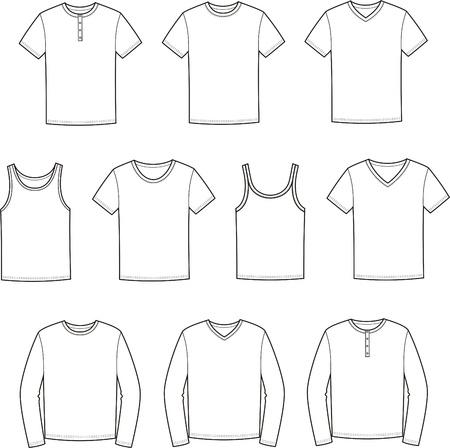 Vector illustratie van de mannen s t-shirts Stock Illustratie