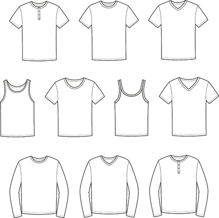 Vector illustration of men s t-shirts