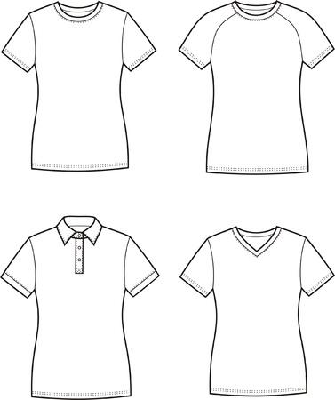 t shirt model: Illustrazione vettoriale delle donne s t-shirt