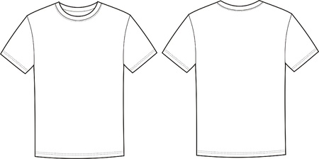 illustration of t-shirt  Front and back views Vettoriali