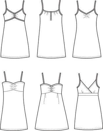 Vector illustration of women s summer dresses Vector